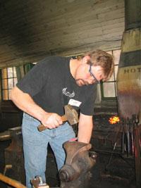 Процесс художественной ковки