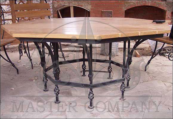 кованые столы фото